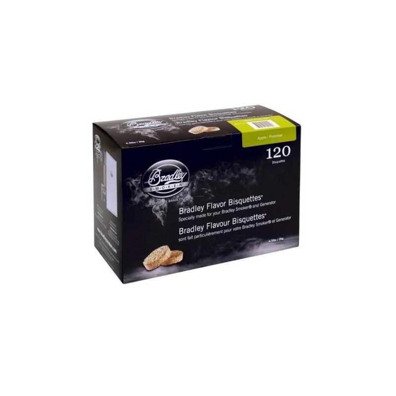 Jabloň 120 ks - Brikety udící  Bradley Smoker