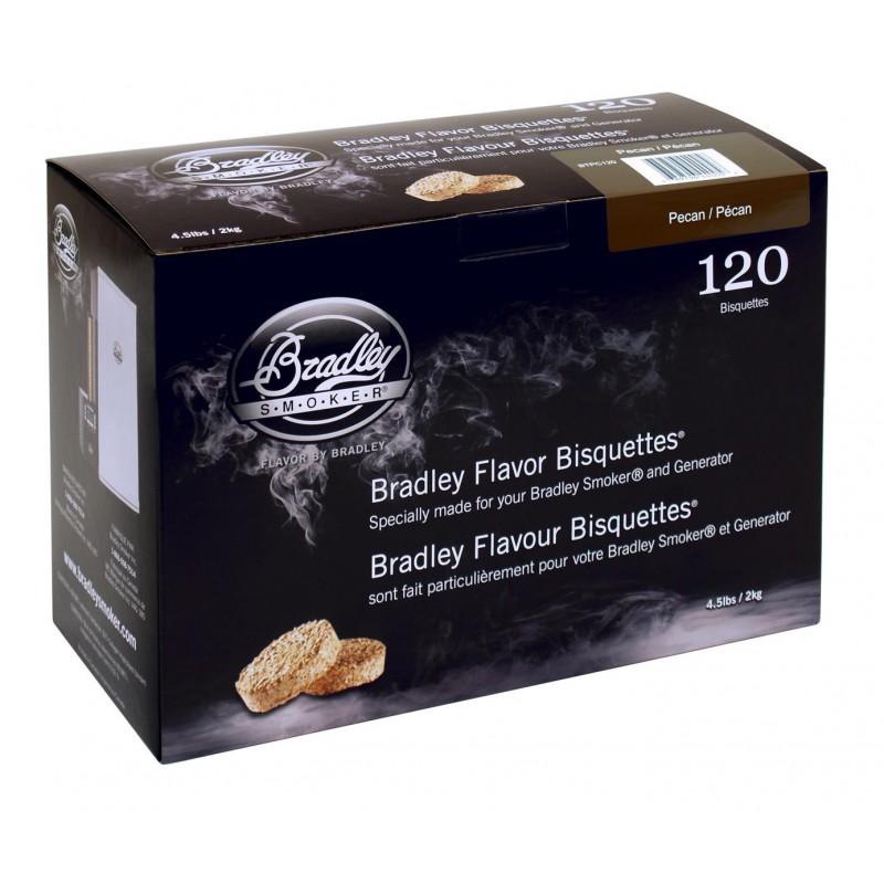 Pecan-Ořech 120 ks - Brikety udící  Bradley Smoker