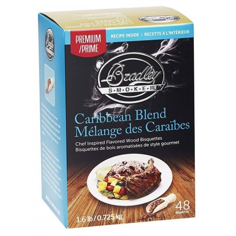 Premium Caribbean Blend 48 ks - Brikety udící Bradley Smoker