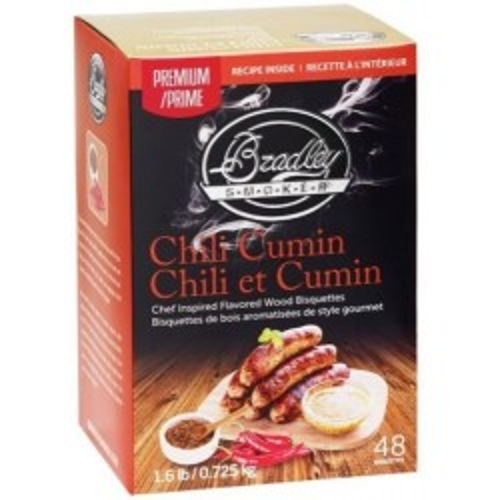 Premium Chili Cumin 48 ks - Brikety udící Bradley Smoker